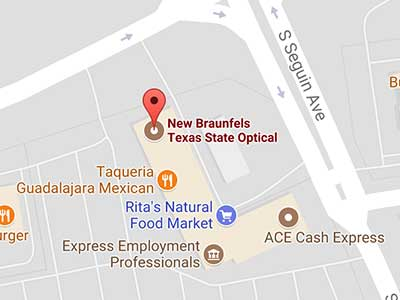 new braunfels eye doctor map
